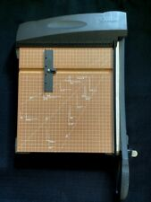 X Acto Heavy Duty Paper Cutter With Guillotine Blade Wood Base 12 X 12