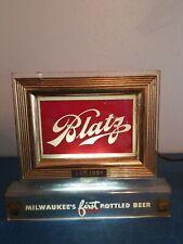 (VTG) 1950s blatz beer back bar light up cash register sign price brothers