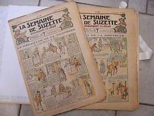 La semaine de Suzette Année 1919 9 numéros