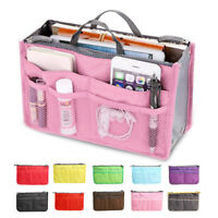 Lady Women Insert Handbag Bag in Bag Purse Large liner Organizer Bag Travel