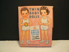 Vtg Paper Dolls, Twin Baby Dolls� 1950's, W:3989, Boxed Set