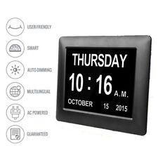 Extra Large Dementia Digital Memory Loss Calendar Day Clock Alarm for Elderly UK