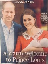 Royal Baby Prince Louis Sunday Express 2018 12-page Souvenir Picture Tribute