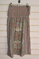 New Look Womens Floral Patterned Long Skirt - White - Size 12 (RefF2)