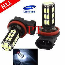 H11 Samsung LED 30 SMD Super White 6000K Headlight Xenon 2x Light Bulbs Low Beam