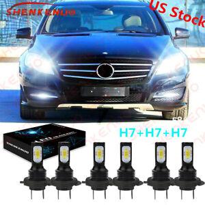 For Mercedes-Benz R350 2006-2010 6000K Combo LED Headlight+Fog Light Bulbs Kit