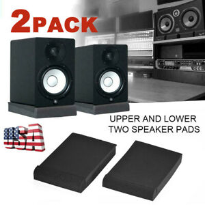 2 Pairs Alctron Studio Monitor Speaker Isolation Shockproof Acoustic Foam Pads