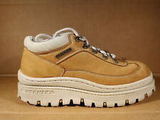 Women Vintage Skechers Jammers Chunky Platform Brown Leather Sneakers Boots Sz 9