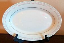 "Crown Ming Fine China Coquille Jian Shiang 14"" Oval Serving Platter"