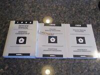 1999 Chrysler Sebring Convertible Service Manuals Manual OEM