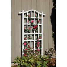 75 x 35 in. Plant Trellis White Vinyl Garden Frame Patio Yard Outdoor Climbing