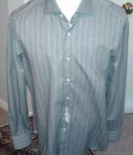 $595  ISAIA  Dress Shirt 100% Cotton  Size 17  US 43  EU hand Made in Italy