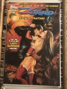 ZORRO #10 LADY RAWHIDE JULIE BELL pulp cover fatal attraction topps comics 1994