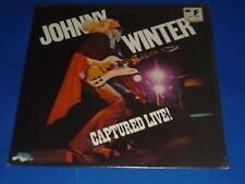 "JOHNNY WINTER - ""CAPTURED LIVE"" - RECORD ALBUM LP - BLUE SKY - SHRINK"