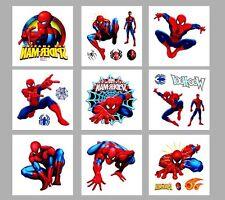 10 X SPIDERMAN  TemporaryTattoo Birthday  Party Bag filler , UK Seller,