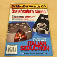 The Absolute Sound Issue 182, 2008 TAS Pathos Amp CD Spendor Parasound  Review