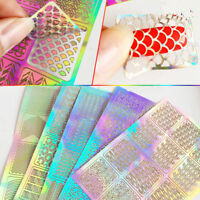 3 Sheets Nail Art Transfer Stickers 3D Various Decal Manicure Decoration Tips