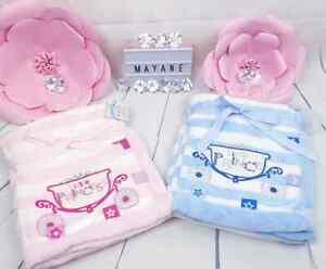 Baby Taufdecke Kinderwagendecke Babygeschenk Babydecke Princess/Prince Rosa/Blau