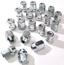 Set of 20 x M12 x 1.25, 21mm Hex, alloy wheel nuts lugs bolts for Nissan Cars