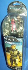 Miniature FIgures HALO ACTION CLIX RED SPARTAN green weapon gun Combat Game NEW