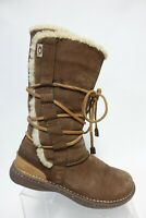 UGG AUSTRALIA Catalina Brown Sz 9 Women Lace-Up Suede Boots