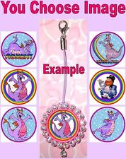 FIGMENT Mobile Cell Phone Strap Keyring Keychain Bottlecap Disney Purple Dragon