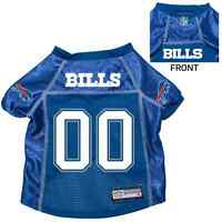 NEW BUFFALO BILLS PET DOG PREMIUM NFL JERSEY w/NAME TAG ALL SIZES