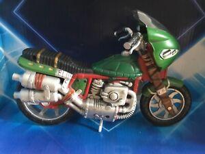 TMNT NINJA TURTLES - MOTORBIKE MOTORCYCLE  - 2002 PLAYMATES TOYS - EX COND 20CM