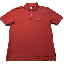BROOKS BROTHERS 346 Cotton Pique Polo Shirt in Red Size: XS