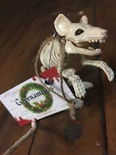 Gorenament Christmas Skeleton Standing Mouse Ornament Halloween Tree Decoration