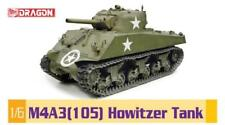 Dragon 1/6 Scale WWII US M4A3 Sherman 105mm Howitzer Tank Model Kit 75046