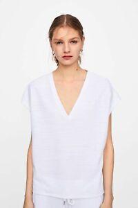 cherrie424: NWT Zara V Neck Shirt in Blue