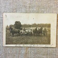 Vintage Post Card Real Photo Farm Family Posted Ohio 1940s Era