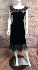Vintage Black Velour Lace Sis Originals Dress Medium