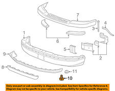 GM OEM Front Bumper-Air Deflector Pin Clip Retainer 15733971