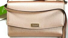 Kate Spade Laurel Way Rosegold Leather Crossbody/Clutch/Wallet/Phone Case