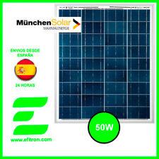 Placa solar panel  50 Wp 12V MUNCHEN. Modulo fotovoltaico. EFITRÓN.