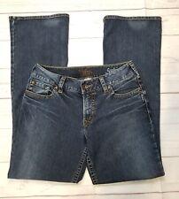 Silver Size 29/32 Suko Bootcut Jeans Distressed Dark Wash