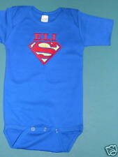 BABY ROYAL BLUE Romper SUPERMAN PERSONALIZED SZ 12-18 mo One Piece + Baby's Name