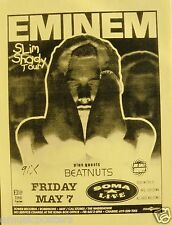"EMINEM 1999 ""SLIM SHADY TOUR"" SAN DIEGO CONCERT POSTER - Rap & Hip Hop Music"