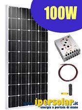 Kit fotovoltaico 100W - Per camper-barca-baite-insegne