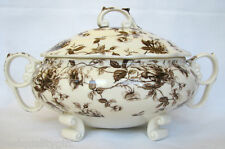 NEW PEPPERTREE BROWN TOLLE PORCELAIN M/W SAFE COVERED SERVING,SOUP DISH,WITH LID
