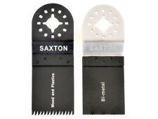 2 Lama Saxton MIX B per Fein Multimaster Bosch Attrezzo Multifunzione Oscillante