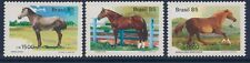 Brazil 1985 - Nature Animals Pure Bred Horses Fauna - Sc 1976/8 MNH