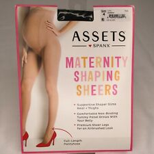 Assets SPANX Maternity Shaping Sheers Pantyhose Black Size 4 NEW