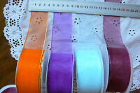 Sheer PULL-BOW Ribbon 38mm wide 2, 5 + Other Metre Lngth - 4 Colour Choice CLD10