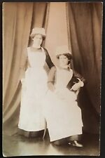 RPPC Studio Real Photo Postcard ~Two Young Women ~ Nurses from England