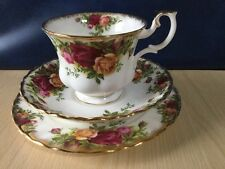 Royal Albert Old Country Roses Trio 1962 fine porcellana cinese