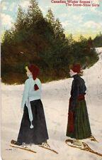 Canadian Winter Sports - The Snow Shoe Girls 1909 Fair-Good Corner Wear