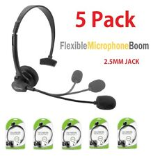 5x Cellet 2.5mm Hands-Free Headset with Boom Mic for Home Office Cordless Phone